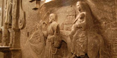 Sculpture carved in rock salt