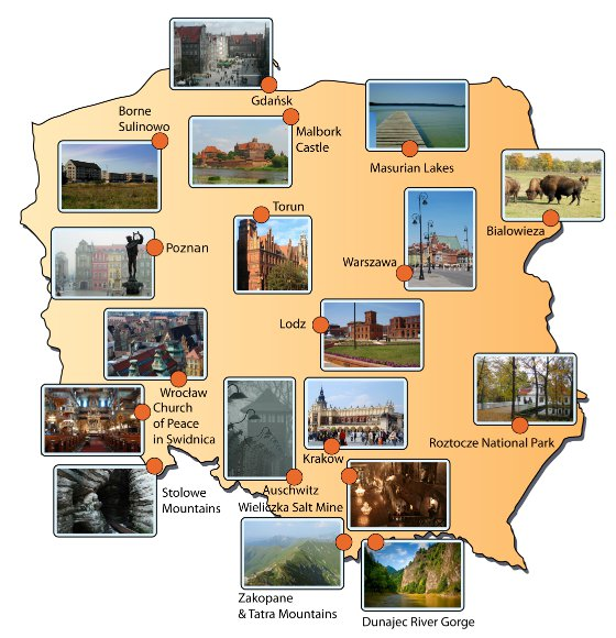 What to see in Poland Tourist attractions in Poland