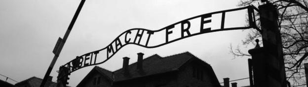 Entrance sign to Auschwitz