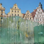 Glass fountain in Wroclaw, Poland